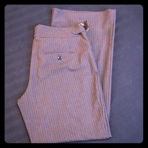 Express Editor Gray and Pink wide leg pant. Sz 10.